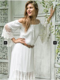 Indo Dress- Ivory (Miussa)