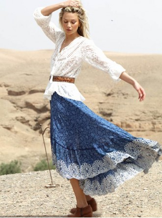 Caravan Skirt - Blue (Miss June)