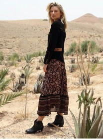 Charlie Skirt/Jupe - Black/Brown (Miss June)