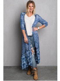 Bandana Jacket/ Dress - Blue (Miss June)