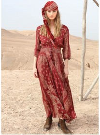 Nomad Dress/Robe - Burgundy (Miss June)