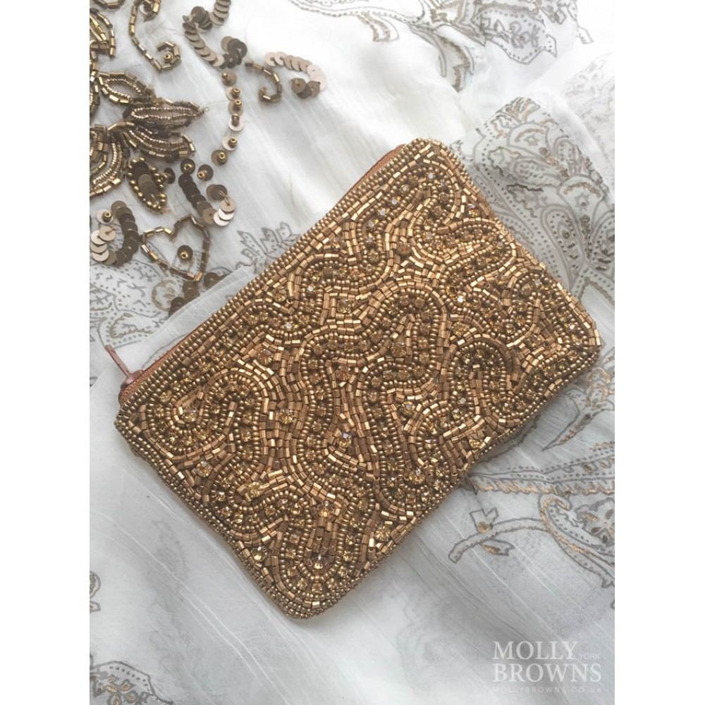 gold beaded purse summer accessories by