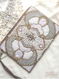 Morocco Sequinned Clutch Bag