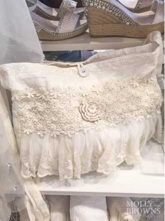 Ivory Lace Summer Handbag