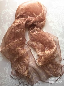 Light Silk Scarf - Copper