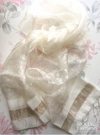 Light Silk Scarf - Cream