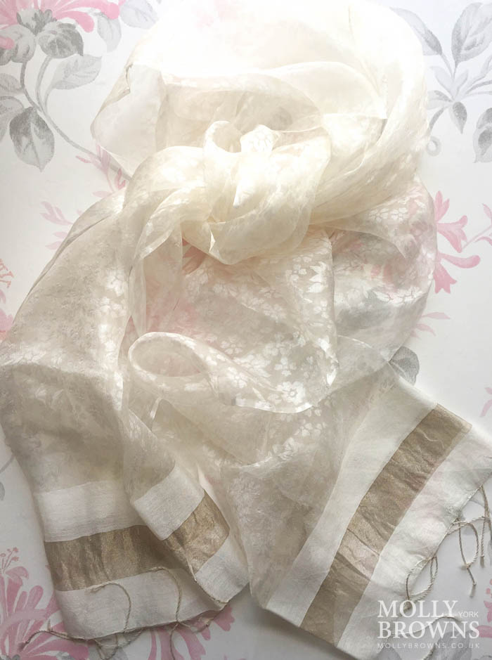 Light Silk Scarf - Cream