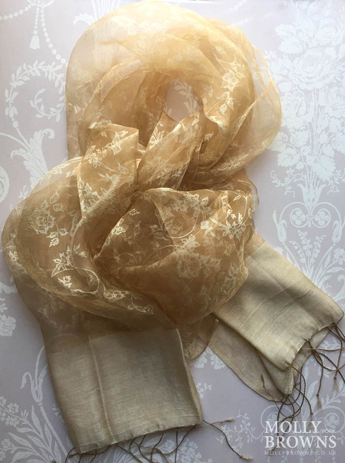 Light Silk Scarf - Gold