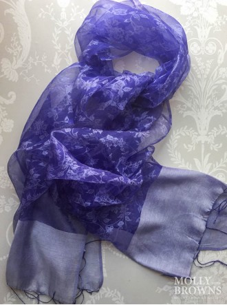 Light Silk Scarf - Indigo