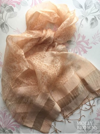 Light Silk Scarf - Rose Gold