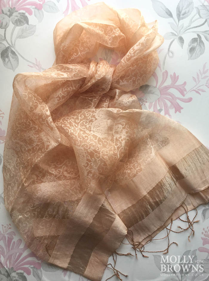 Light Silk Scarf - Rose Gold