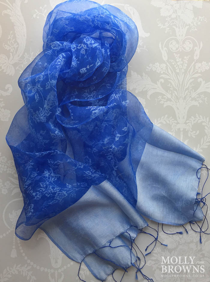 Light Silk Scarf - Royal Blue