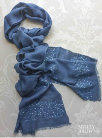 Sequin Embellished Scarf - Blue