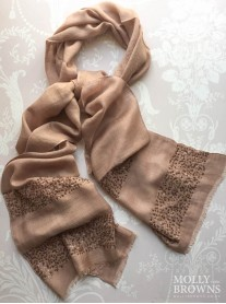 Sequin Embellished Scarf - Copper