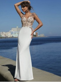 42006 - Ivory / Black (Mori Lee)