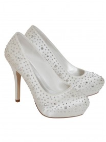 Bella Wedding Shoes (Ivory)