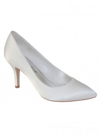 Mavis Satin Wedding Shoes (Ivory)