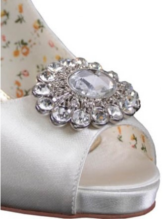 Pear Diamante Bridal Shoe Clip
