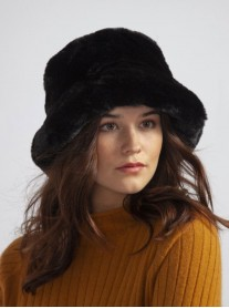 Faux Fur Hat - Black