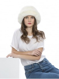 Faux Fur Hat - Ivory
