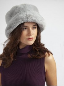 Faux Fur Hat - Grey