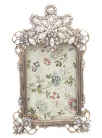 Small Antique Silver Picture Frame 3 x 2