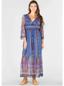 Altitude Long Dress - Multi/White (Rene Derhy)