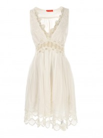 S615096 Taratata Robe Dress - White (Rene Derhy)
