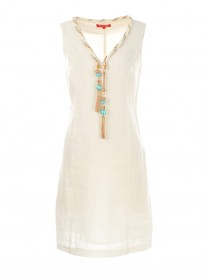 S615099 Tarentelle Robe Dress - White (Rene Derhy)