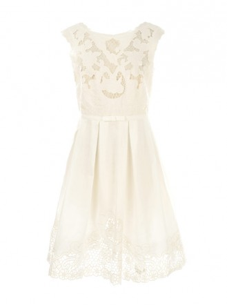 S615131 Taux Robe Dress - White (Rene Derhy)