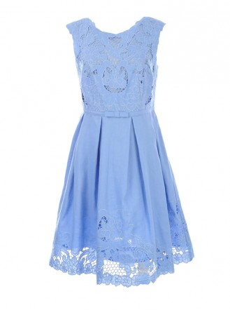 S615131 Taux Robe Dress - Blue (Rene Derhy)