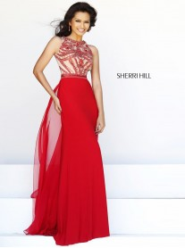 11069 - Red/Nude (Sherri Hill)