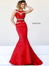 32033 - Red/Nude (Sherri Hill)