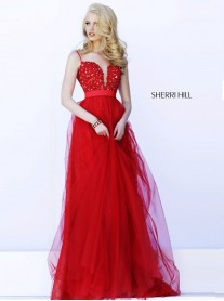 32229 - Red/Nude (Sherri Hill)