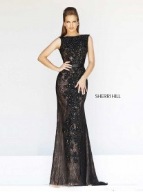 4308 - Black/Nude (Sherri Hill)