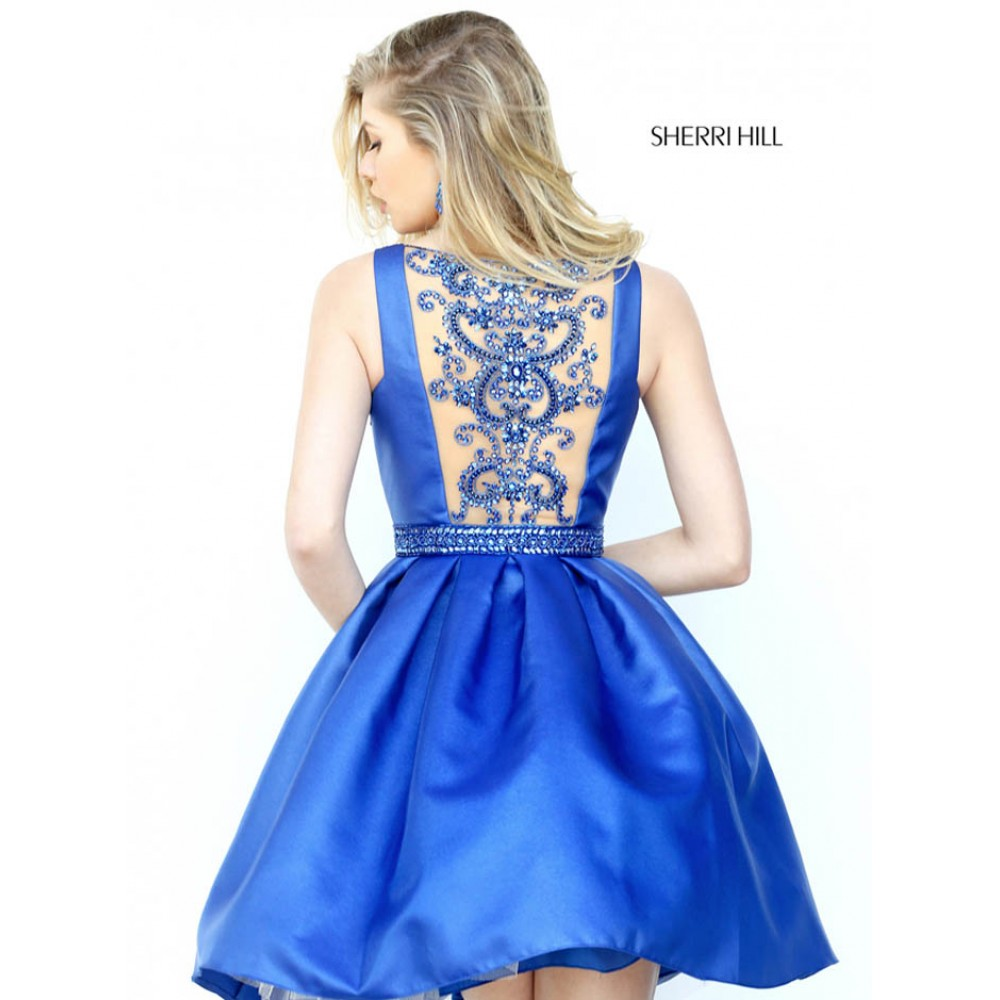 sherri hill 50505 blue prom amp cocktail dresses by