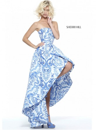 51097 - Ivory/Blue (Sherri Hill)