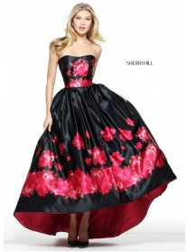 51055 - Black/Red (Sherri Hill)