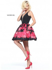 51180 - Black/Red (Sherri Hill)