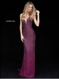 50860 - Plum / Navy (Sherri Hill)