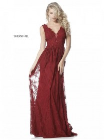 51562 - Burgundy / Navy (Sherri Hill)