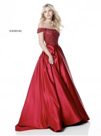 51610 - Wine / Nude (Sherri Hill)
