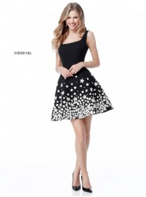 51670 - Black/Ivory (Sherri Hill)