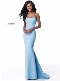 51777 - Ice Blue / Burgundy (Sherri Hill)