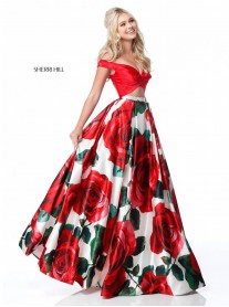 51815 - Red Print (Sherri Hill)