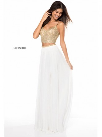 51842 - Ivory/Gold (Sherri Hill)