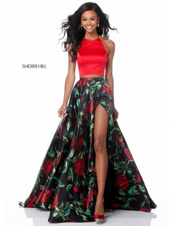 51870 - Red/Black Print (Sherri Hill)