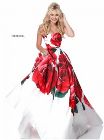 51887 - Red Print (Sherri Hill)
