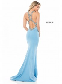 51969 - Light Blue / Ivory / Red (Sherri Hill)
