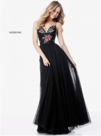 52050 - Black/Multi (Sherri Hill)